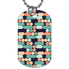 Coral Mint Color Style Dog Tag (two Sides) by AnjaniArt