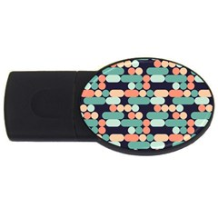 Coral Mint Color Style Usb Flash Drive Oval (4 Gb)  by AnjaniArt