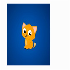 Cute Cat Large Garden Flag (two Sides) by AnjaniArt