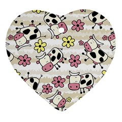 Cow Animals Heart Ornament (2 Sides) by AnjaniArt
