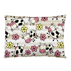 Cow Animals Pillow Case by AnjaniArt