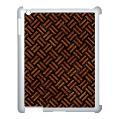 Woven2 Black Marble & Brown Marble Apple Ipad 3/4 Case (white) by trendistuff