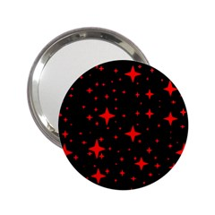 Bright Red Stars In Space 2 25  Handbag Mirrors by Costasonlineshop