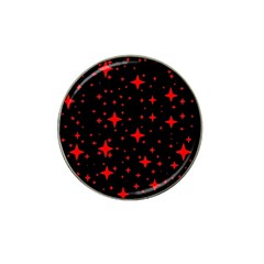 Bright Red Stars In Space Hat Clip Ball Marker by Costasonlineshop