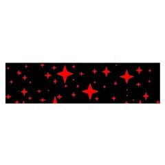 Bright Red Stars In Space Satin Scarf (oblong) by Costasonlineshop