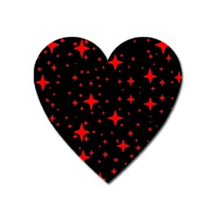 Bright Red Stars In Space Heart Magnet by Costasonlineshop