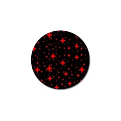 Bright Red Stars In Space Golf Ball Marker (4 Pack) by Costasonlineshop