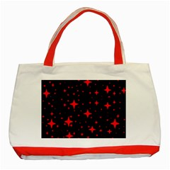 Bright Red Stars In Space Classic Tote Bag (red) by Costasonlineshop
