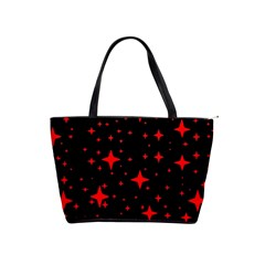 Bright Red Stars In Space Shoulder Handbags by Costasonlineshop