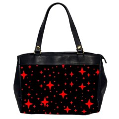 Bright Red Stars In Space Office Handbags (2 Sides)  by Costasonlineshop