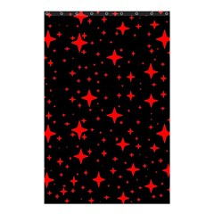 Bright Red Stars In Space Shower Curtain 48  X 72  (small)  by Costasonlineshop