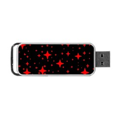 Bright Red Stars In Space Portable Usb Flash (one Side) by Costasonlineshop