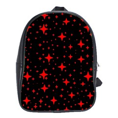 Bright Red Stars In Space School Bags (xl)  by Costasonlineshop
