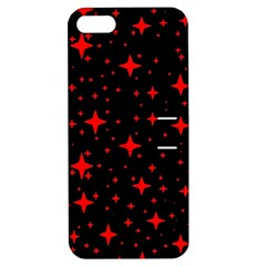 Bright Red Stars In Space Apple Iphone 5 Hardshell Case With Stand by Costasonlineshop