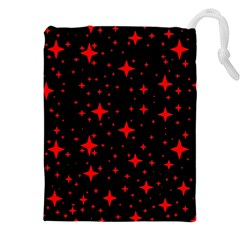 Bright Red Stars In Space Drawstring Pouches (xxl) by Costasonlineshop