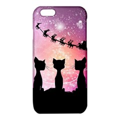 Cats Looking In The Sky At Santa Claus At Night iPhone 6/6S TPU Case by FantasyWorld7