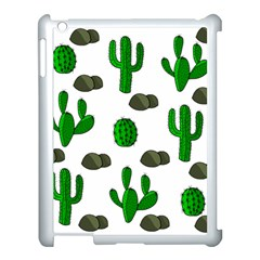 Cactuses 3 Apple Ipad 3/4 Case (white) by Valentinaart