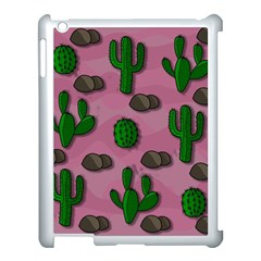 Cactuses 2 Apple Ipad 3/4 Case (white) by Valentinaart