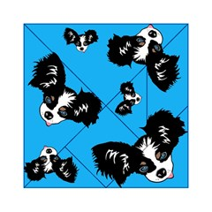 Cute Face Dog Funny Detective Acrylic Tangram Puzzle (6  X 6 ) by AnjaniArt