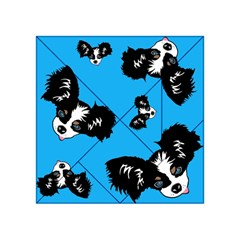 Cute Face Dog Funny Detective Acrylic Tangram Puzzle (4  X 4 ) by AnjaniArt