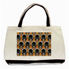 Cute Panda Basic Tote Bag by AnjaniArt
