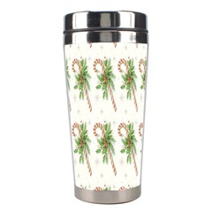 Candy Cane Printable Stainless Steel Travel Tumblers by AnjaniArt