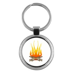 Fire Key Chains (round)  by AnjaniArt