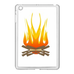 Fire Apple iPad Mini Case (White) by AnjaniArt
