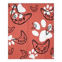 Face Cat Pink Cute Shower Curtain 60  X 72  (medium)  by AnjaniArt