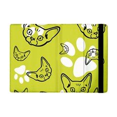Face Cat Green Apple Ipad Mini Flip Case by AnjaniArt
