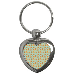 Cute Cat Animals Orange Key Chains (heart)  by AnjaniArt