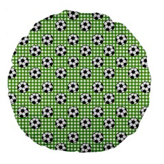 Green Ball Large 18  Premium Flano Round Cushions by AnjaniArt