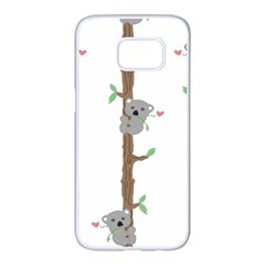Koala Pattern Samsung Galaxy S7 Edge White Seamless Case
