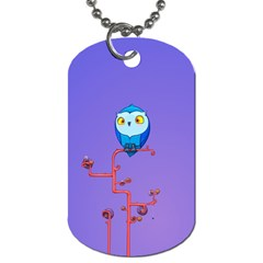 Owl Spider Dog Tag (two Sides) by AnjaniArt
