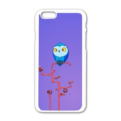 Owl Spider Apple Iphone 6/6s White Enamel Case by AnjaniArt