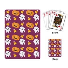 Pumpkin Ghost Canddy Helloween Playing Card by AnjaniArt