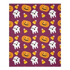 Pumpkin Ghost Canddy Helloween Shower Curtain 60  X 72  (medium)  by AnjaniArt