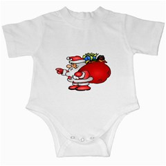 Santa Claus Xmas Christmas Infant Creepers by AnjaniArt