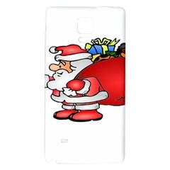 Santa Claus Xmas Christmas Galaxy Note 4 Back Case by AnjaniArt