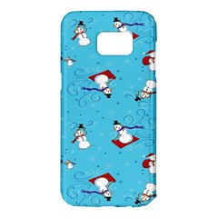 Snowman Samsung Galaxy S7 Edge Hardshell Case by AnjaniArt