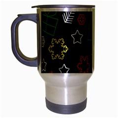 Colorful Xmas Pattern Travel Mug (silver Gray) by Valentinaart