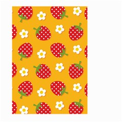 Strawberry Large Garden Flag (Two Sides) by AnjaniArt