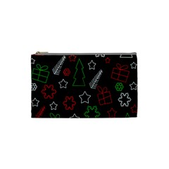 Green And  Red Xmas Pattern Cosmetic Bag (small)  by Valentinaart