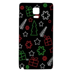 Green And  Red Xmas Pattern Galaxy Note 4 Back Case by Valentinaart