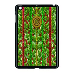 The Golden Moon Over The Holiday Forest Apple Ipad Mini Case (black) by pepitasart