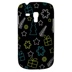 Xmas Pattern   Blue And Yellow Galaxy S3 Mini by Valentinaart