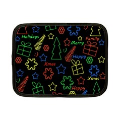 Playful Xmas Pattern Netbook Case (small)  by Valentinaart