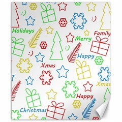 Simple Christmas Pattern Canvas 8  X 10  by Valentinaart