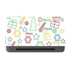 Simple Christmas Pattern Memory Card Reader With Cf by Valentinaart