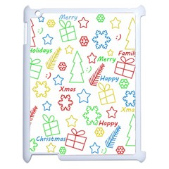 Simple Christmas Pattern Apple Ipad 2 Case (white) by Valentinaart
